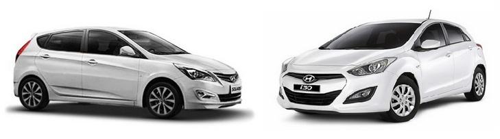 Hyundai i30 или Hyundai Solaris сол