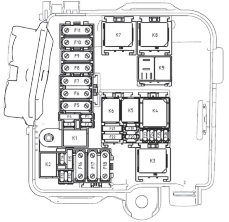 схема реле и предохранителей под капотом лада xray